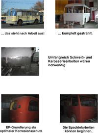 Renovierung Oberleitungs-Bus-Anhänger